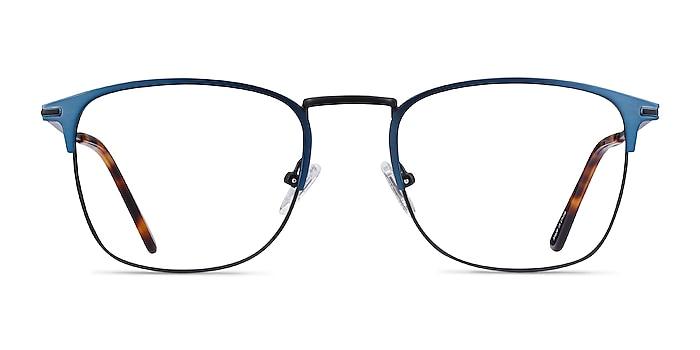 Poppy Navy Black Metal Eyeglass Frames from EyeBuyDirect