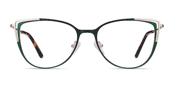Garance Green & Gold Métal Montures de lunettes de vue d'EyeBuyDirect