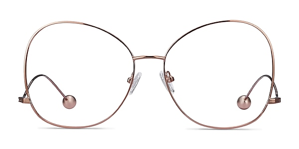 Renata Rose Gold Metal Eyeglass Frames