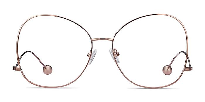 Renata Rose Gold Metal Eyeglass Frames from EyeBuyDirect