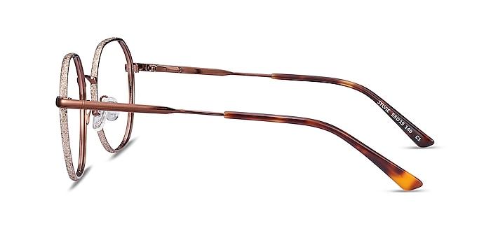 Sylvie Brown Metal Eyeglass Frames from EyeBuyDirect