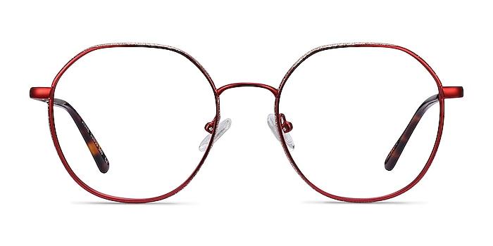 Sylvie Red Metal Eyeglass Frames from EyeBuyDirect