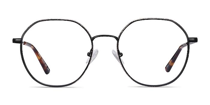 Sylvie Black Metal Eyeglass Frames from EyeBuyDirect