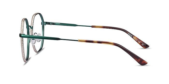 Sylvie Green Metal Eyeglass Frames from EyeBuyDirect