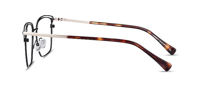Hewitt Black Gold Metal Eyeglass Frames from EyeBuyDirect
