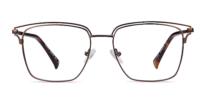 Hewitt Coffe Metal Eyeglass Frames from EyeBuyDirect