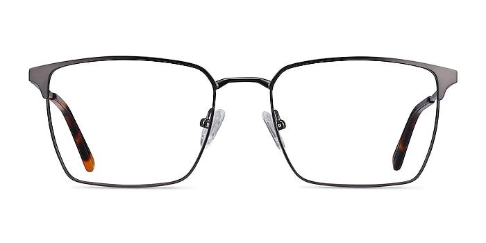 Metro Gunmetal Metal Eyeglass Frames from EyeBuyDirect