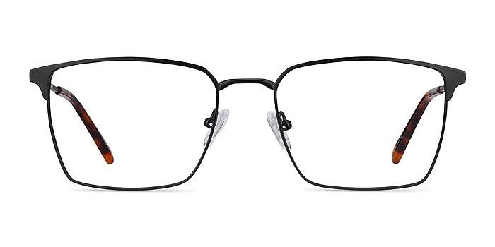 Metro Noir Métal Montures de lunettes de vue d'EyeBuyDirect