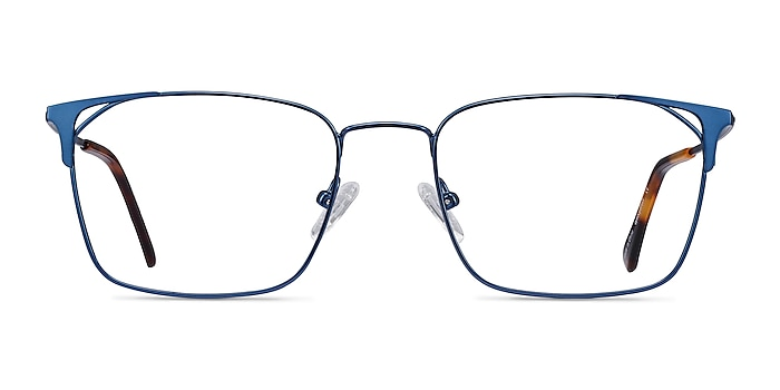 Emett Blue Metal Eyeglass Frames from EyeBuyDirect