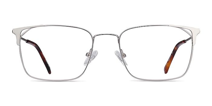 Emett Silver Metal Eyeglass Frames from EyeBuyDirect