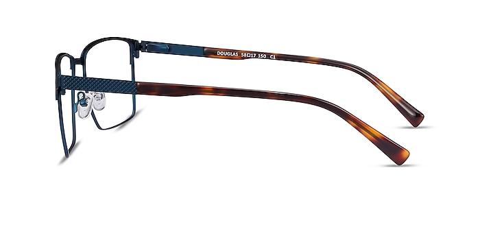 Douglas Blue Metal Eyeglass Frames from EyeBuyDirect
