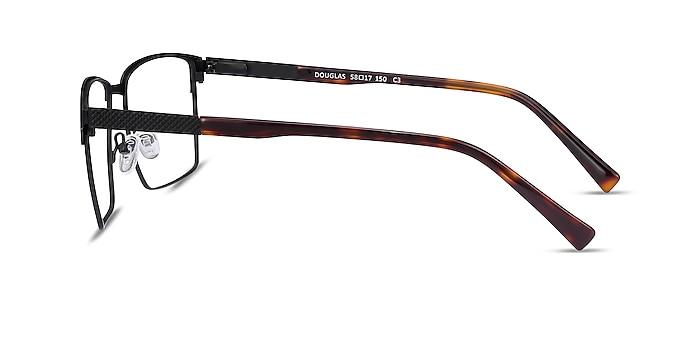 Douglas Noir Métal Montures de lunettes de vue d'EyeBuyDirect