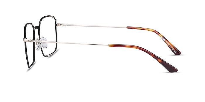 Align Black & Silver Metal Eyeglass Frames from EyeBuyDirect