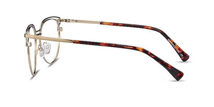 Gia Bronze Metal Eyeglass Frames from EyeBuyDirect