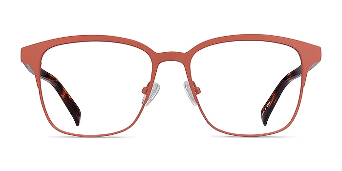 Intense Coral & Tortoise Acetate-metal Eyeglass Frames from EyeBuyDirect
