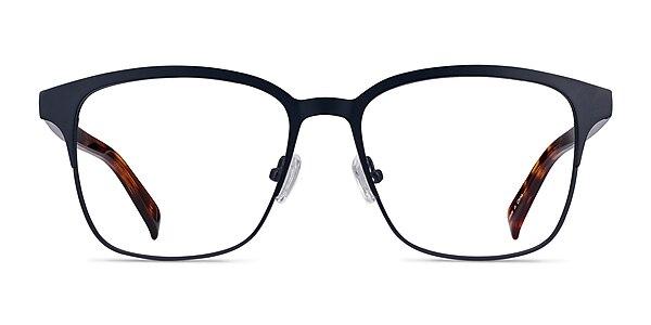 Intense Navy Blue & Tortoise Acetate-metal Montures de lunettes de vue