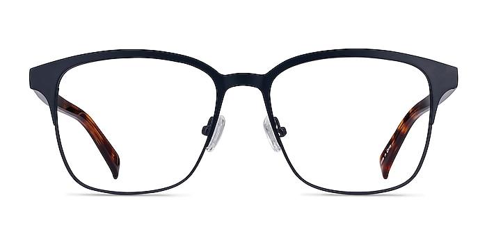 Intense Navy Blue & Tortoise Acetate-metal Montures de lunettes de vue d'EyeBuyDirect