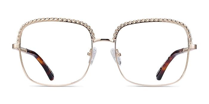 Astoria Gold Metal Eyeglass Frames from EyeBuyDirect