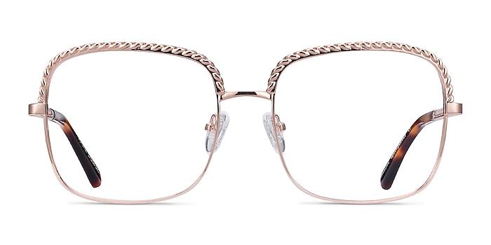 Astoria Rose Gold Metal Eyeglass Frames from EyeBuyDirect