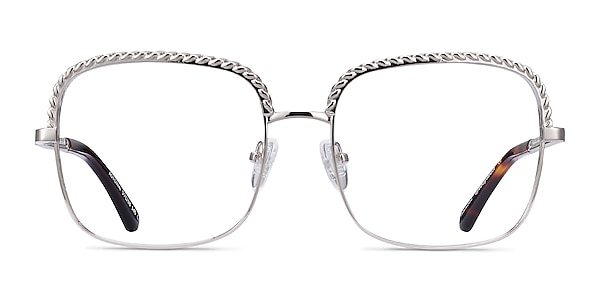 Astoria Silver Metal Eyeglass Frames