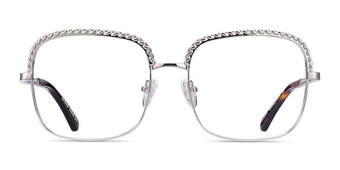 Astoria Silver Metal Eyeglass Frames from EyeBuyDirect