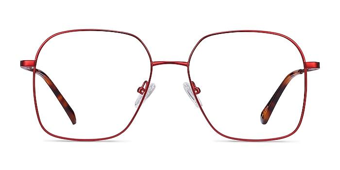 Roman Red Metal Eyeglass Frames from EyeBuyDirect
