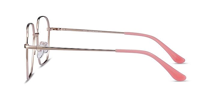 Arty Coral & Gold Métal Montures de lunettes de vue d'EyeBuyDirect