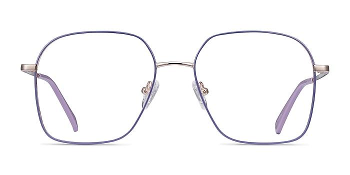Arty Purple & Gold Metal Eyeglass Frames from EyeBuyDirect