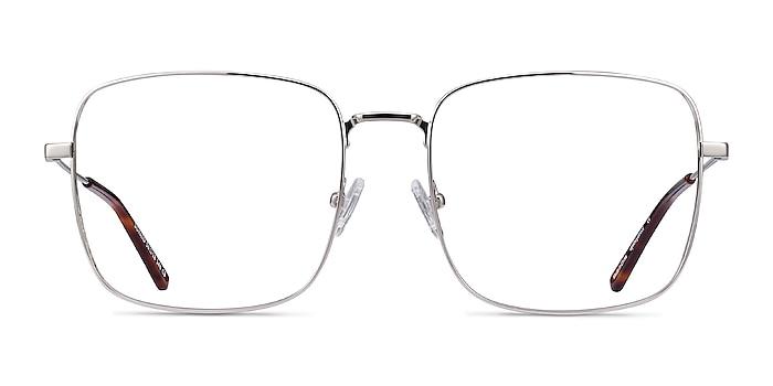 Dorato Silver Metal Eyeglass Frames from EyeBuyDirect