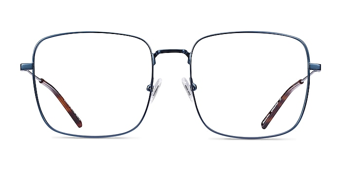 Dorato Navy Metal Eyeglass Frames from EyeBuyDirect
