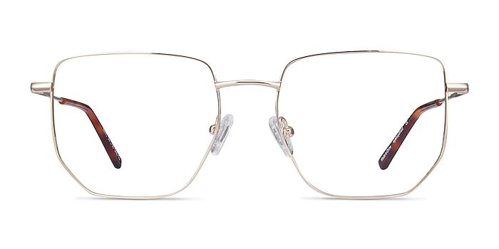 Rhys Gold Metal Eyeglass Frames from EyeBuyDirect