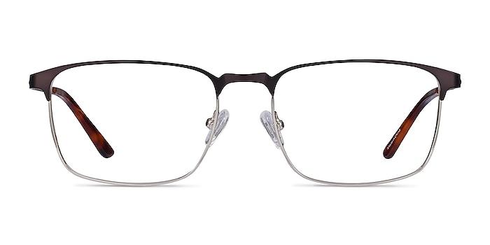 Oswald Matte Black Métal Montures de lunettes de vue d'EyeBuyDirect