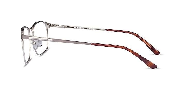 Oswald Gunmetal Metal Eyeglass Frames from EyeBuyDirect