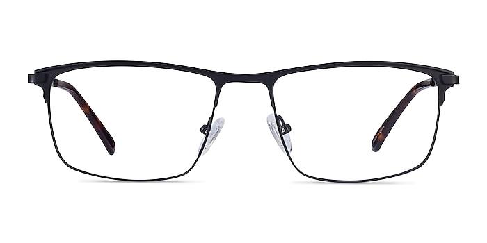 Harrison Noir Métal Montures de lunettes de vue d'EyeBuyDirect