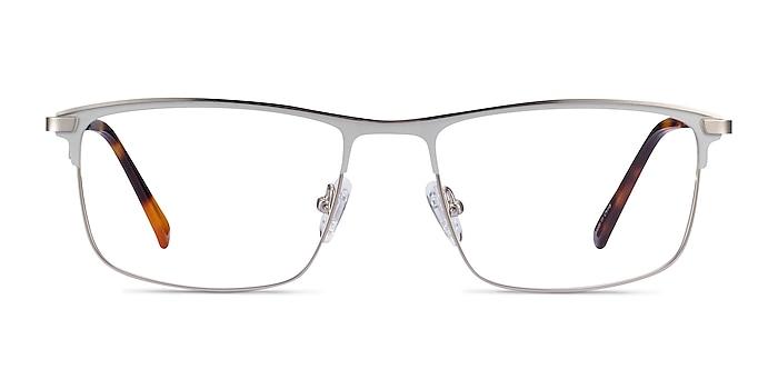 Harrison Argenté Métal Montures de lunettes de vue d'EyeBuyDirect