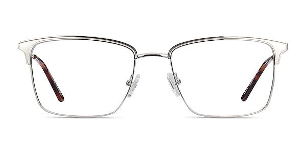 Nathaniel Silver Metal Eyeglass Frames