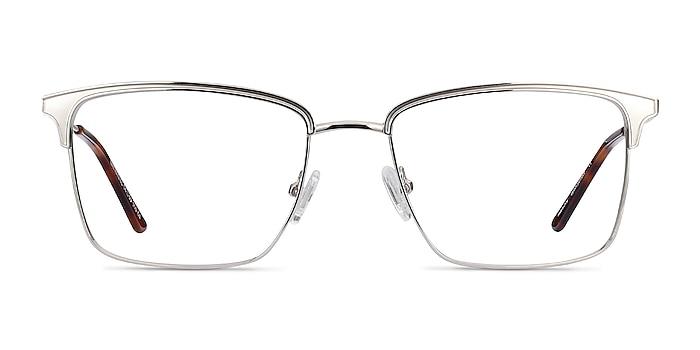 Nathaniel Silver Metal Eyeglass Frames from EyeBuyDirect