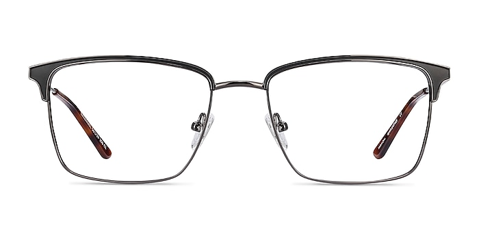 Nathaniel Black Metal Eyeglass Frames from EyeBuyDirect