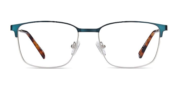 Leopold Navy Metal Eyeglass Frames from EyeBuyDirect