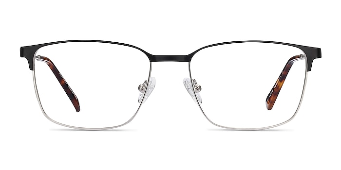 Leopold Black Metal Eyeglass Frames from EyeBuyDirect