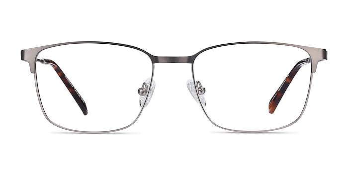Leopold Gunmetal Metal Eyeglass Frames from EyeBuyDirect