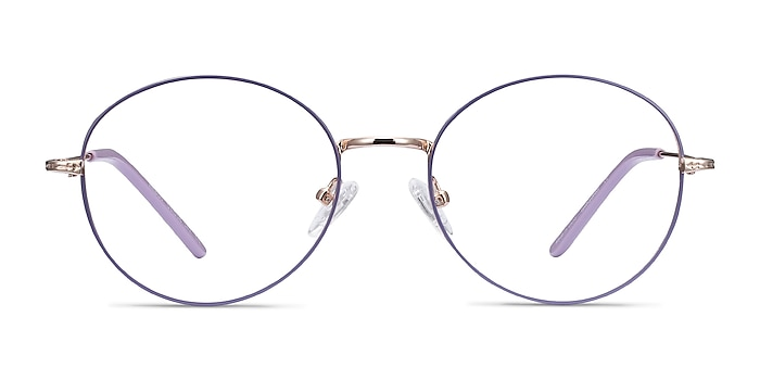 Arbus Purple & Gold Metal Eyeglass Frames from EyeBuyDirect