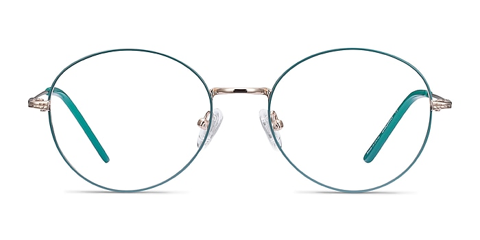 Arbus Green & Gold Metal Eyeglass Frames from EyeBuyDirect