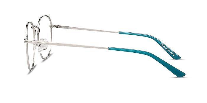 Ethan Mint & Silver Metal Eyeglass Frames from EyeBuyDirect