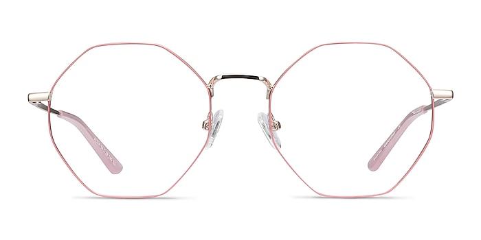 Altar Pink & Gold Metal Eyeglass Frames from EyeBuyDirect