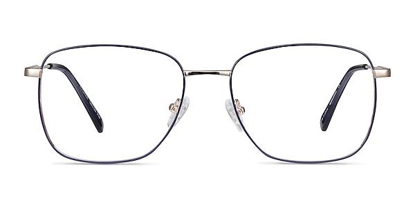 Kusama Navy & Gold Métal Montures de lunettes de vue