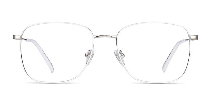 Kusama White & Silver Metal Eyeglass Frames from EyeBuyDirect