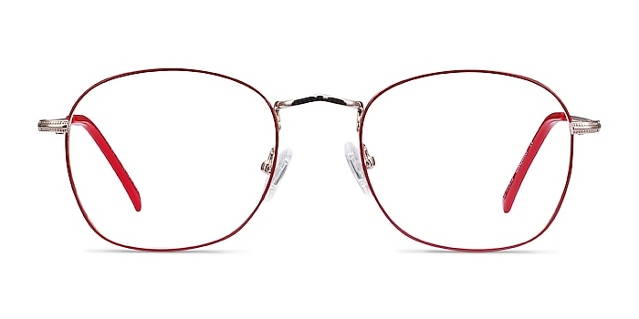 Keith Red & Gold Metal Eyeglass Frames from EyeBuyDirect