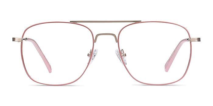 Perry Pink & Rose Gold Metal Eyeglass Frames from EyeBuyDirect