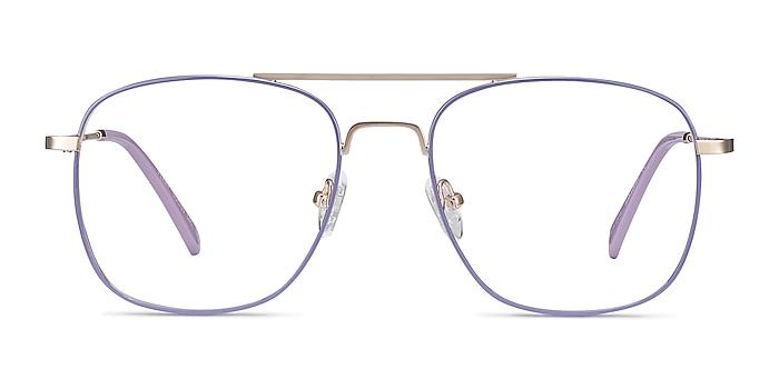 Perry Purple & Gold Metal Eyeglass Frames from EyeBuyDirect